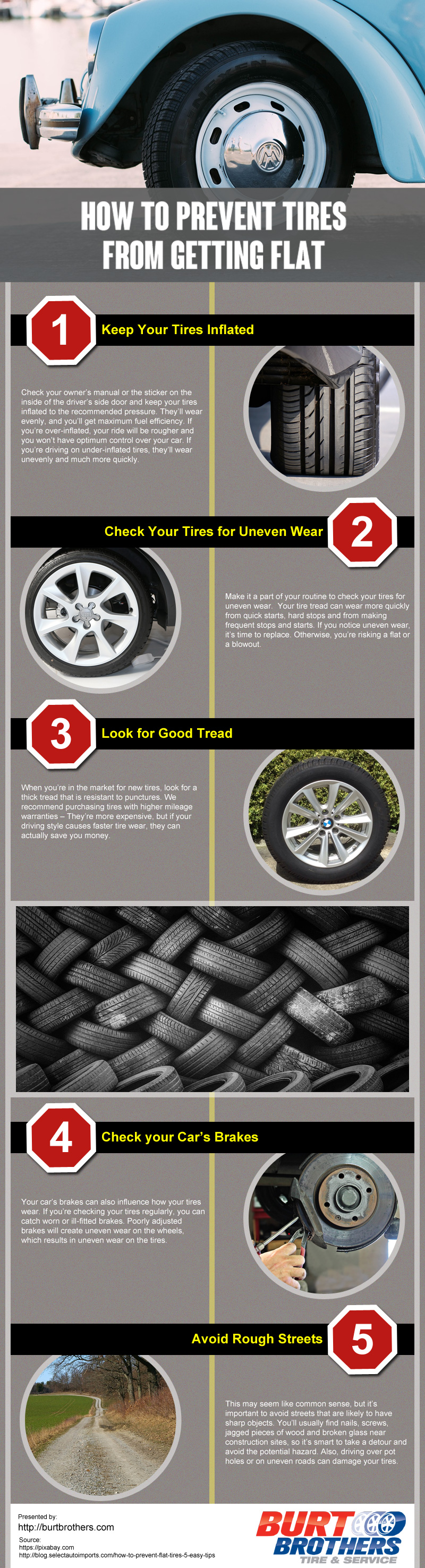 How to Prevent Tires From Getting Flat [infographic]
