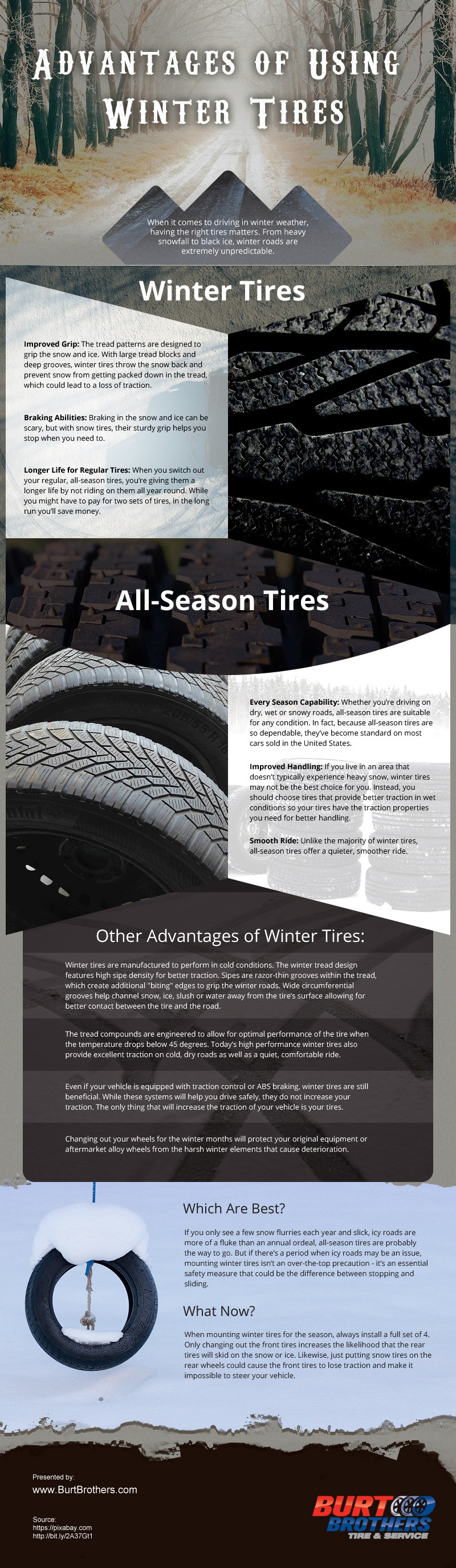 Advantages of Using Winter Tires [infographic]