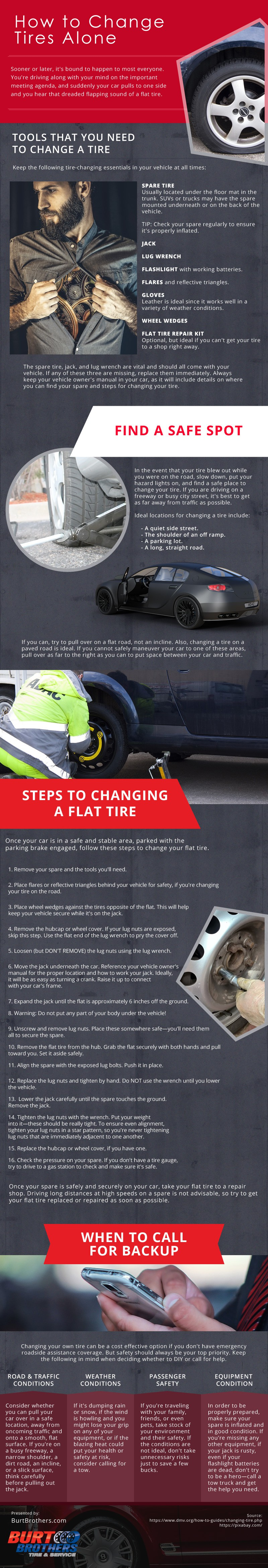 How to Change Tires Alone [infographic]