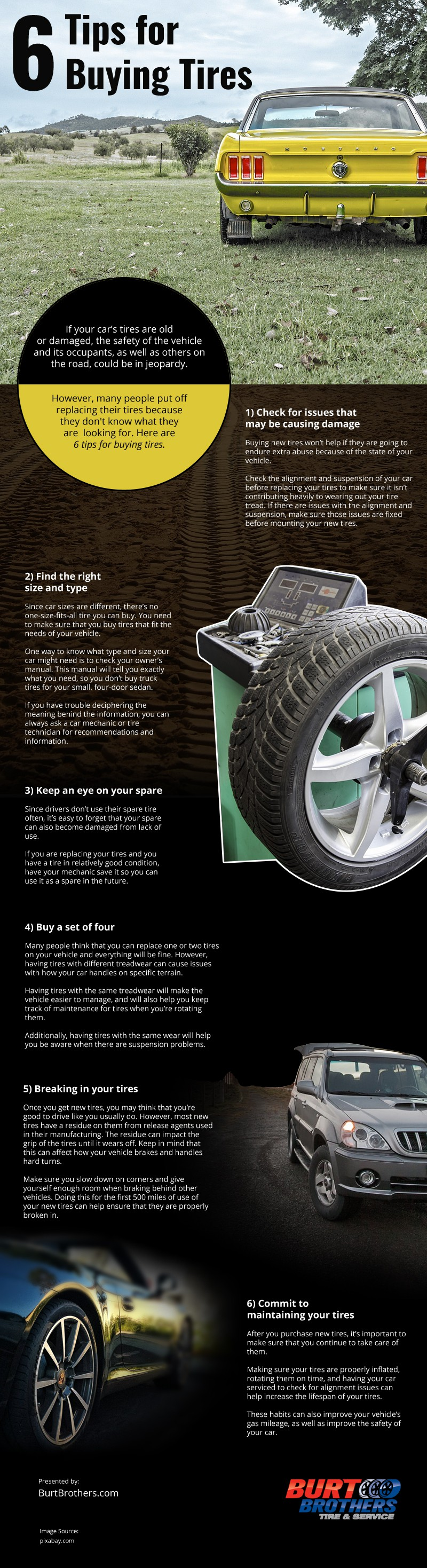 6 Tips for Buying Tires [infographic]