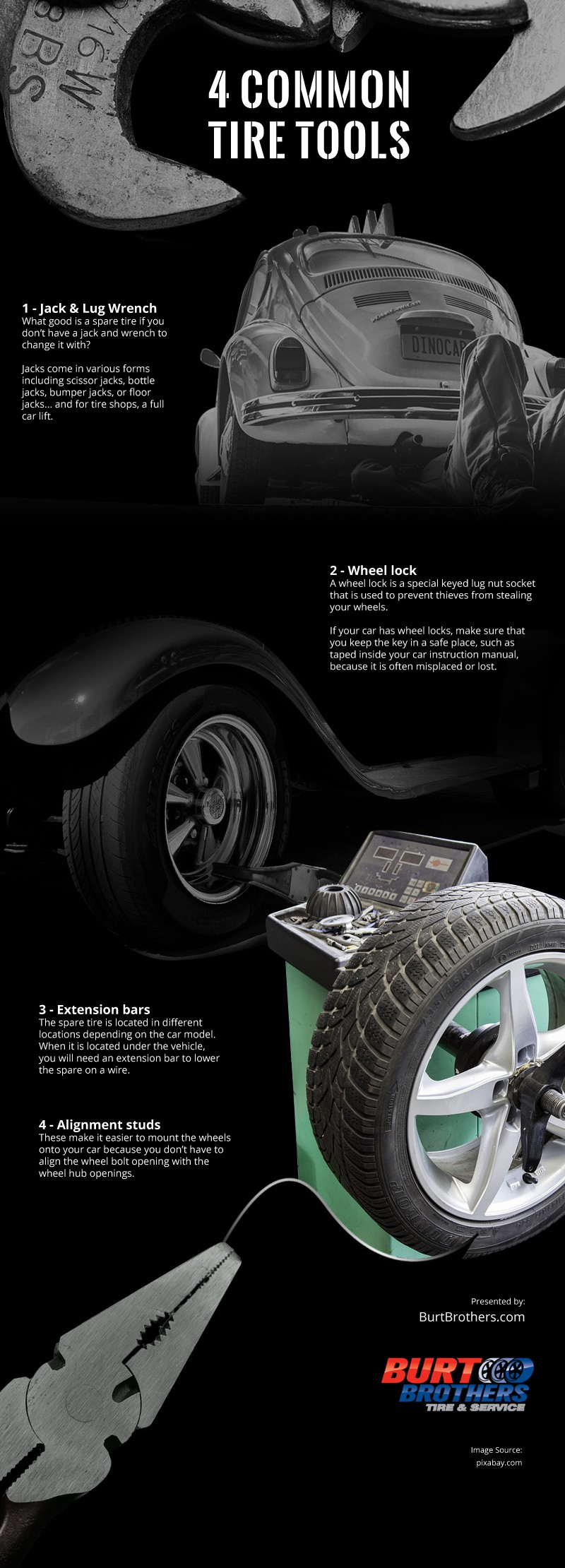 4 Common Tire Tools [infographic]