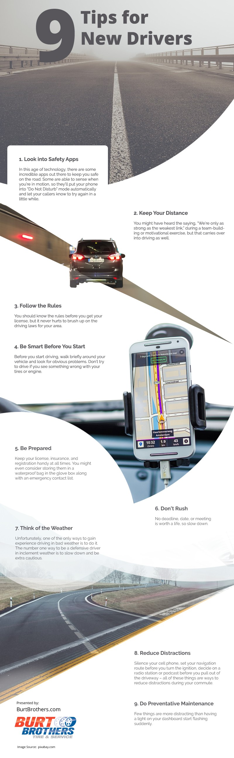 9 Tips for New Drivers [infographic]