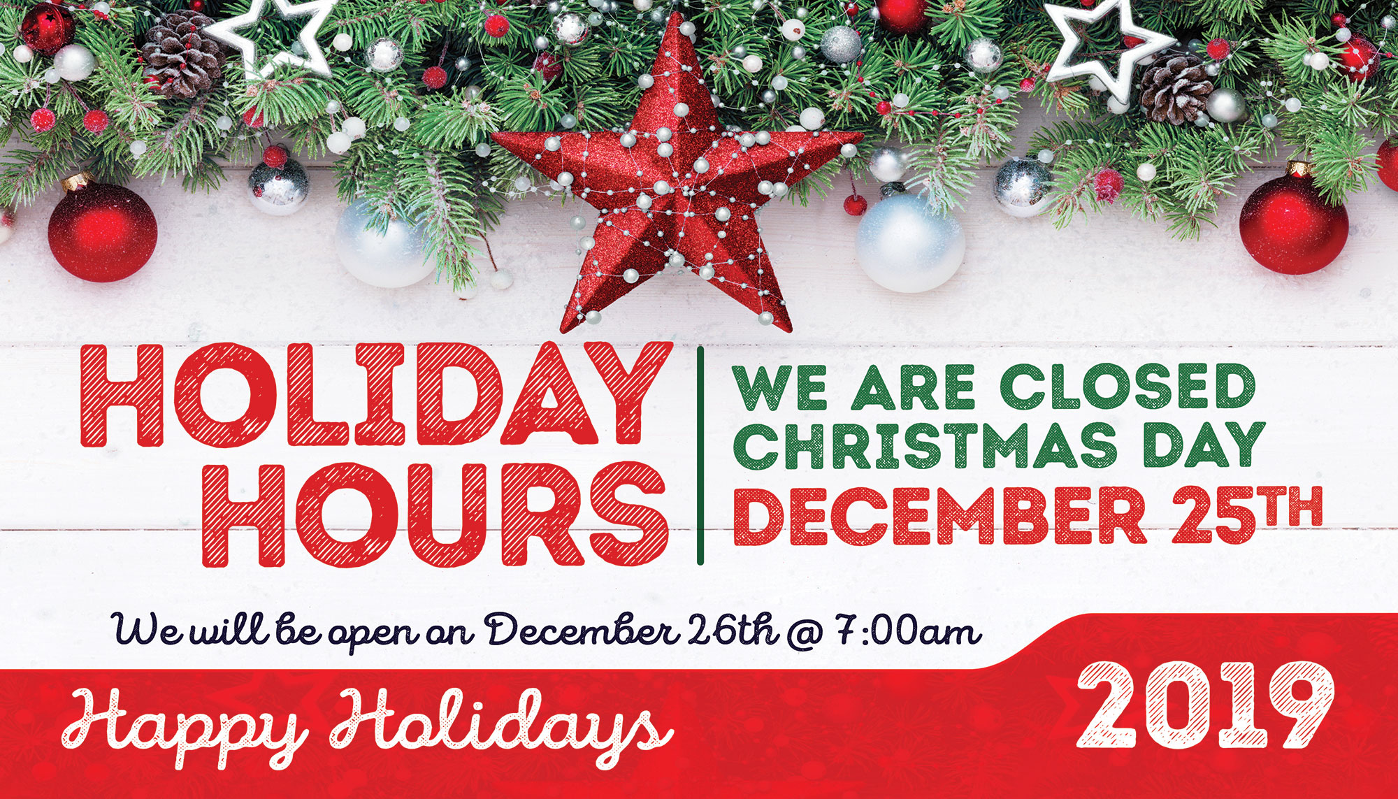 Christmas auto repair shop hours