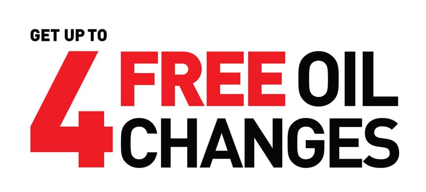 4 Free oil changes