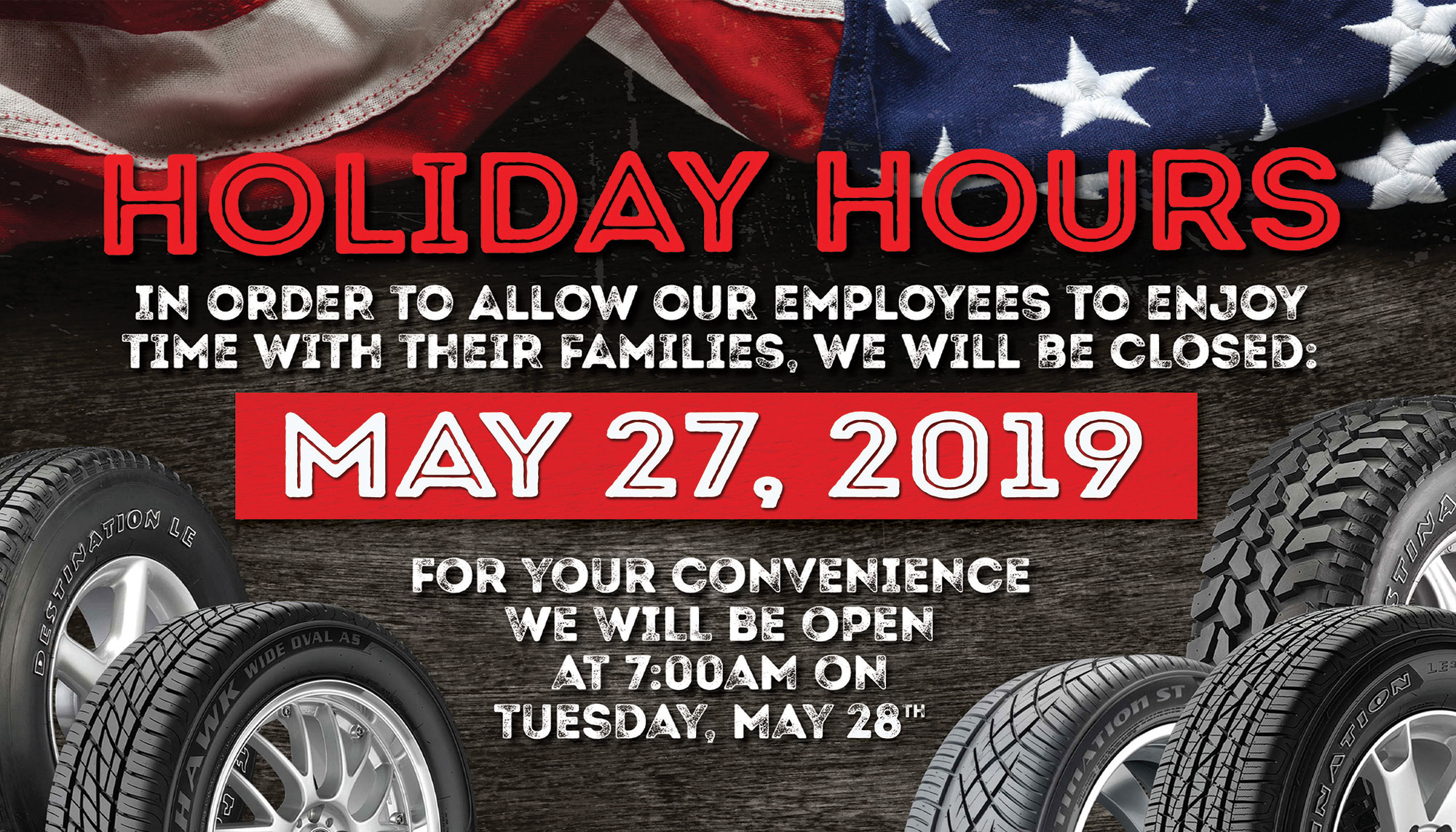 Utah Tire Shop Holiday Hours