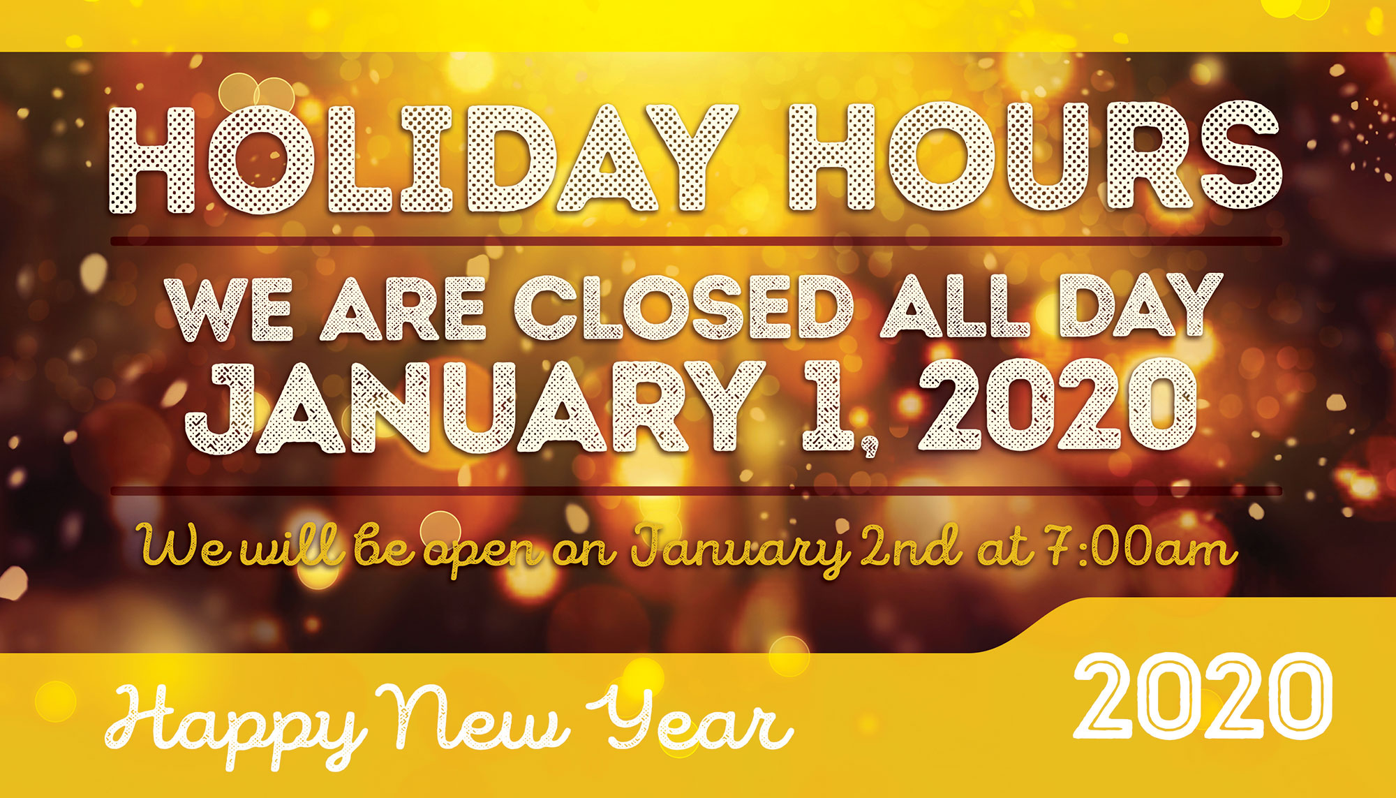 New Years auto repair shop hours
